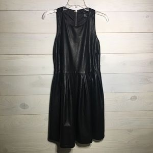 Forever 21 faux leather dress